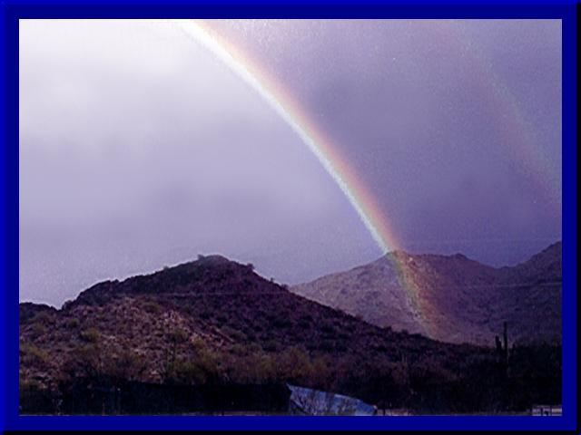 rainbow over Desertcry August 1997